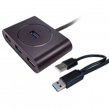 USB 3 SuperSpeed 4 Port Hub upto 5GBPS 4 Devices to 1 PC BUS...