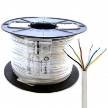 Alarm Security & Signal Cable 6 Core COPPER 100m Reel White