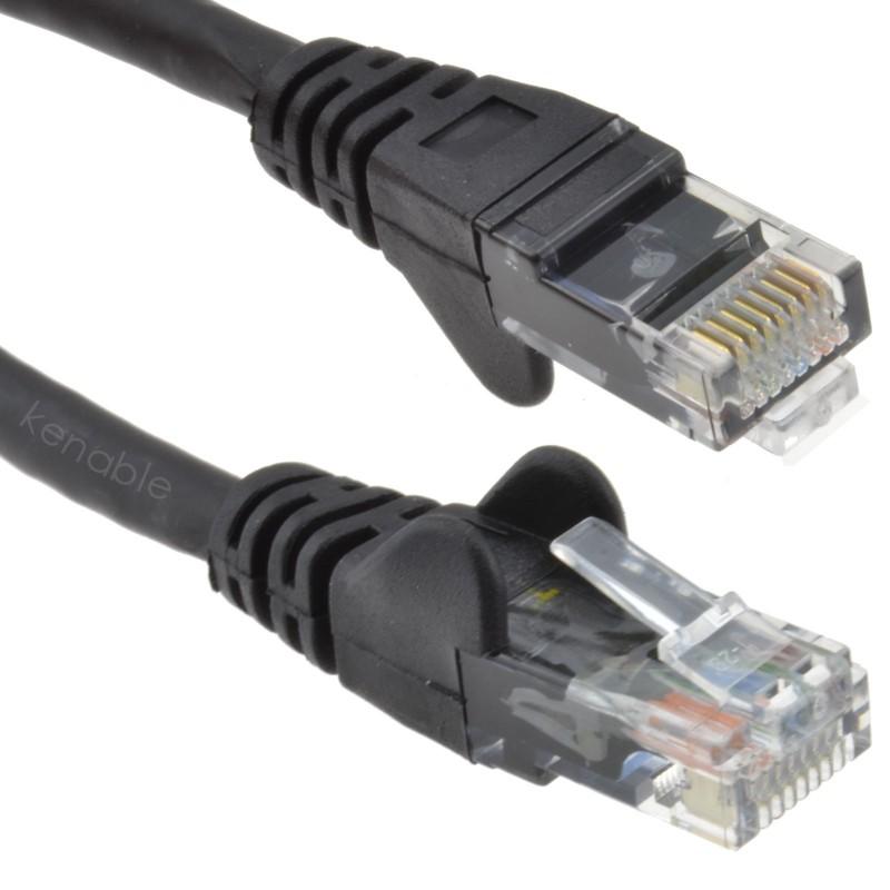 C6 CAT6-CCA UTP RJ45 Ethernet LSZH Networking Cable Black 15m