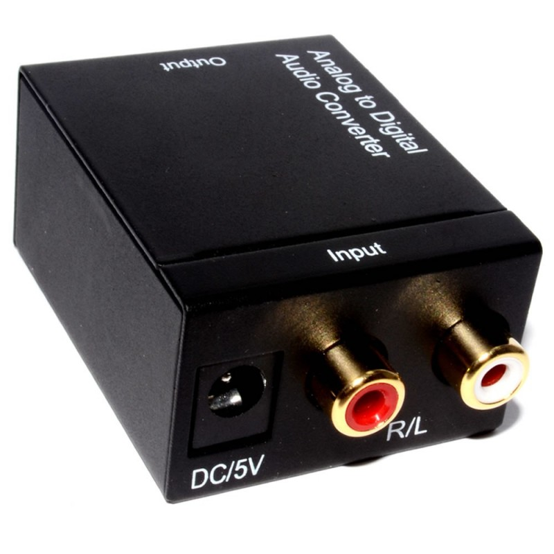 Analogue Phono Audio to Digital Toslink Optical / Coaxial Converter