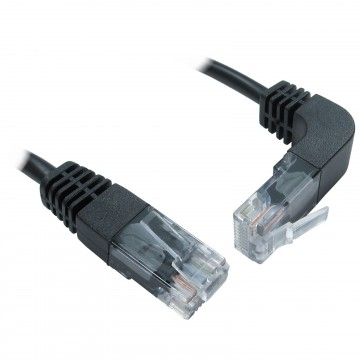 Cat5e Copper RJ45 Straight to Right Angle Plug UP Ethernet...
