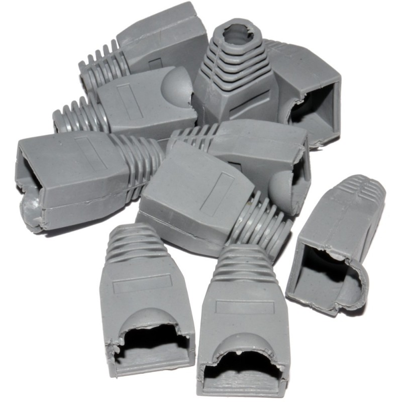 Boot for RJ45 Ethernet Network Cables GREY [100 Pack]