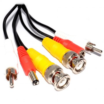 CCTV Lead BNC Video RCA Phono Audio and 2.1mm DC Power Cable  5m