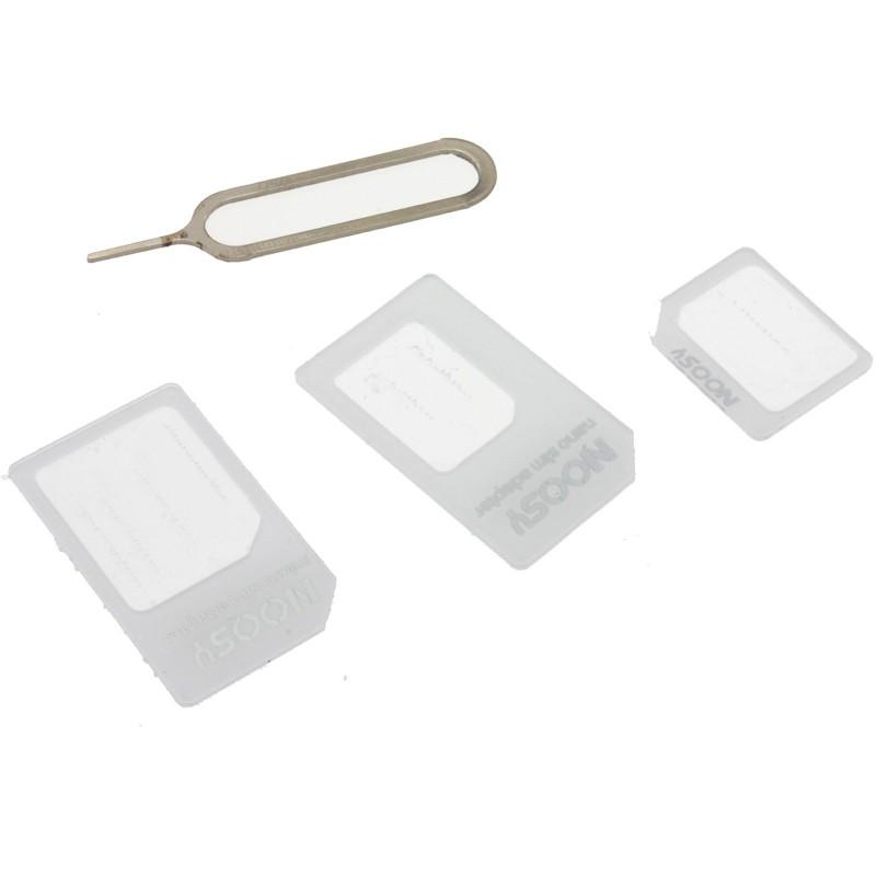 3 In 1 SIM Adapter Pack Nano Micro Standard Mobile Phone Card Adapter