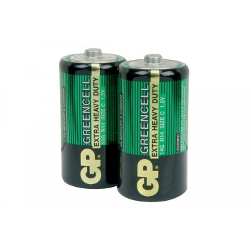 GP Greencell Heavy Duty Zinc Chloride Low Drain C LR14 Battery...