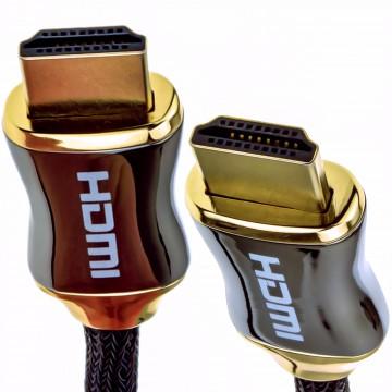 Tressé Chrome HDMI Blindé câble 4k 2k Supports 3D ARC Ethernet...