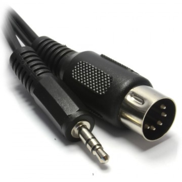 5 Pin Din Plug To 3.5mm Jack Stereo Plug Audio Cable 2m