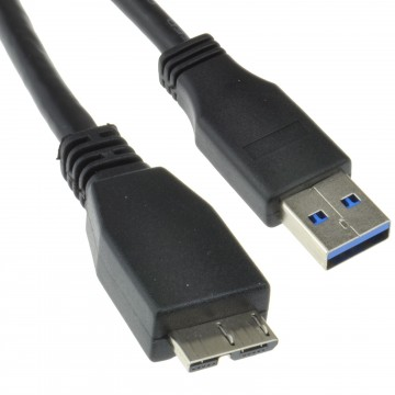 USB 3.0 SuperSpeed A Male to 10 pin Micro B Male Cable BLACK 0.5m 50cm