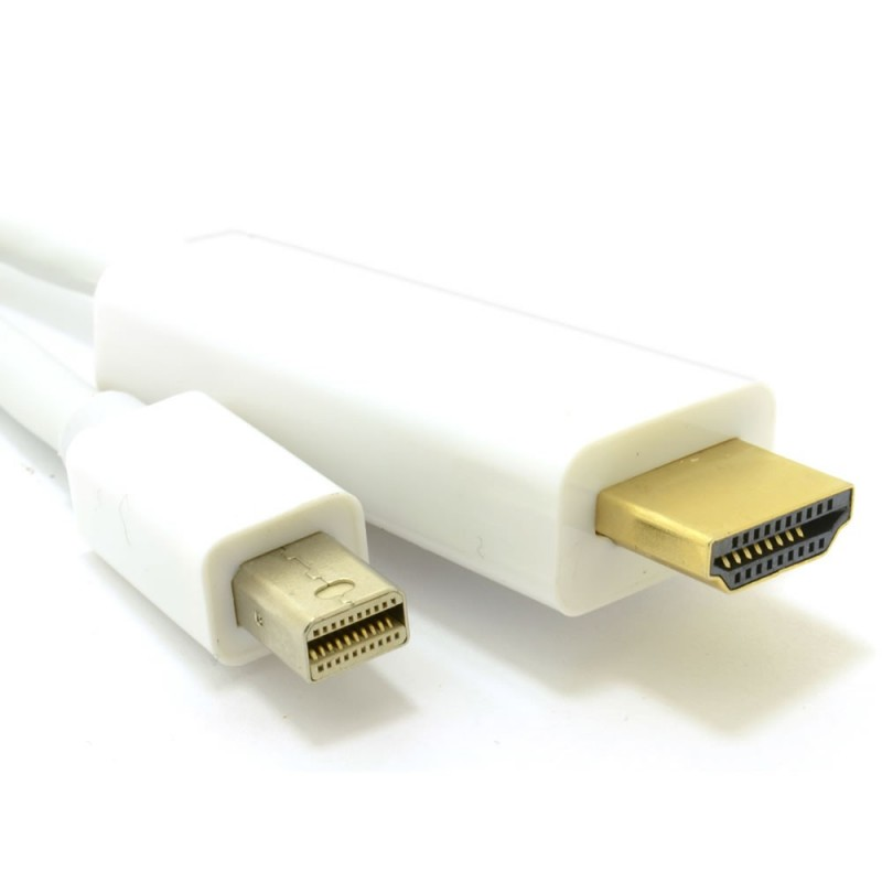 Mini DisplayPort/Thunderbolt to HDMI Cable Mac to TV Video+Audio  1.8m 6ft