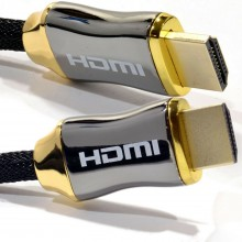 Tressé Chrome HDMI Blindé câble 4k 2k Supports 3D ARC Ethernet...